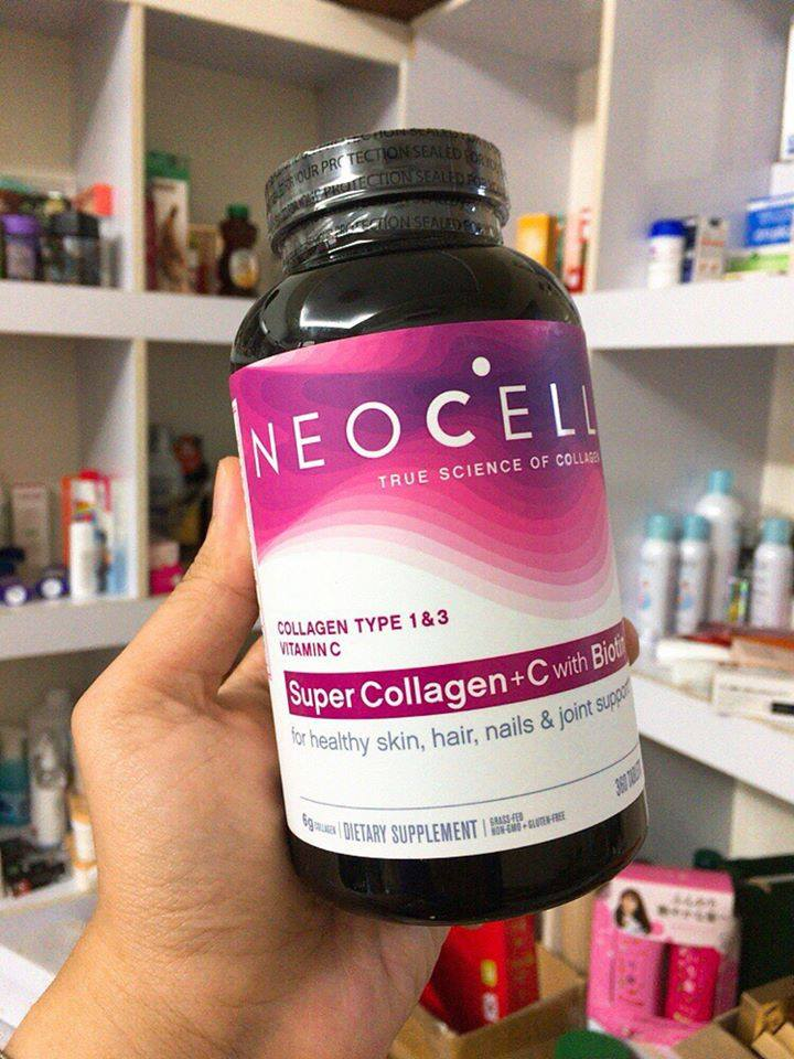 cach su dung Neocell Super Collagen 360 vien mau moi